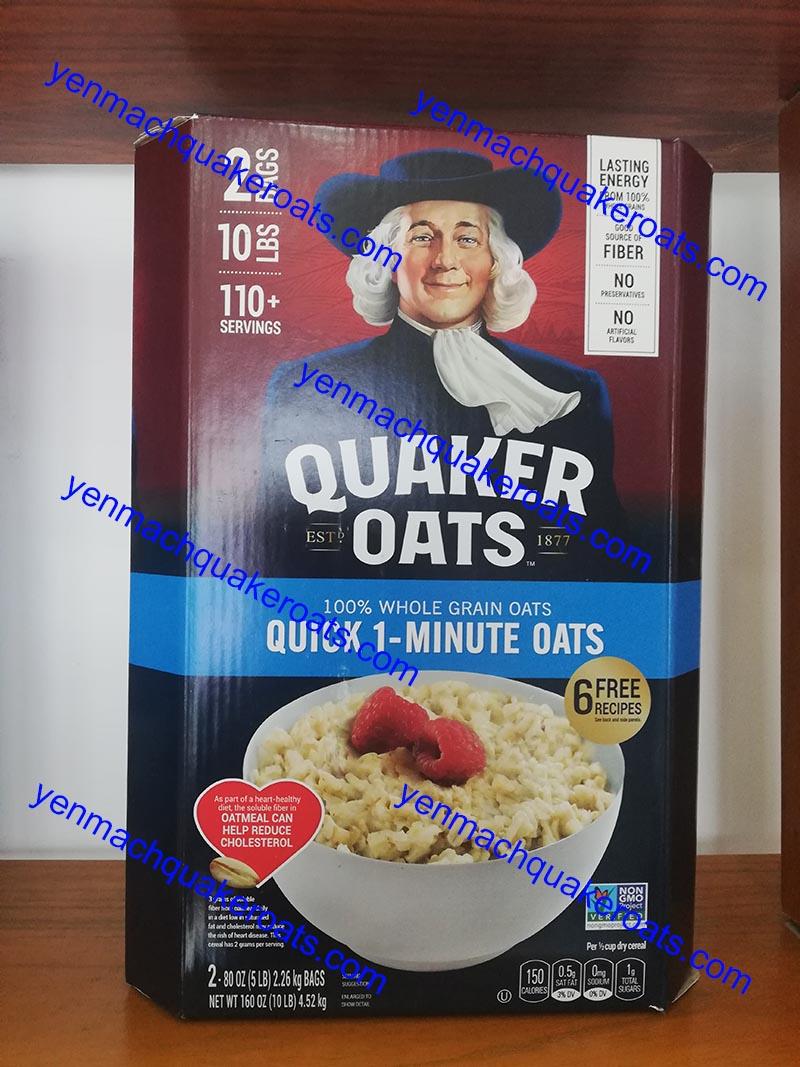 yến mạch quaker oats quick 1 minute